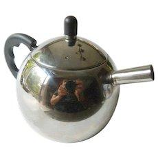 Modernist chrome tea pot