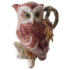 "Fritz and Floyd decorative ""Owl"" pitcher"