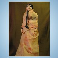 Vintage Souvenir Cloth Doll From India 12""