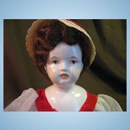 Mid 1900's China Head Doll 9""
