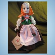 "EFFANBEE  Vintage 11"" Doll With Tag, # Back of Head 1974"