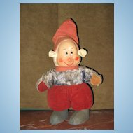 Horsman Disney Dopey Seven Dwarfs Doll Painted Face
