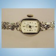40s-50s Lady Hamilton 14k Diamond Watch