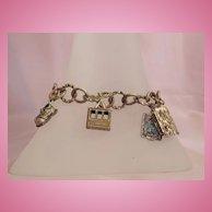Vintage 6 Movable Charm Bracelet