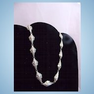Vintage Silver Linked Choker Necklace