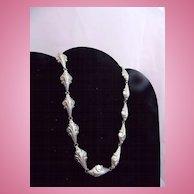 Vintage Silver Linked Choker Necklace