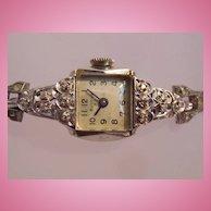 Vintage Bulova 14K White Gold Watch