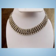 Vintage 4 Layered Rhinestone Necklace