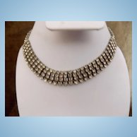 Vintage 4 Layered Rhinestone Necklace