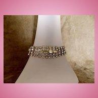 Art Deco Styled Rhinestone Bracelet