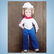 1989 Danbury Mint Captain January  Shirley Temple Doll