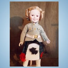Danbury Mint Captain (Wee Willie Winkie) Shirley Temple Doll