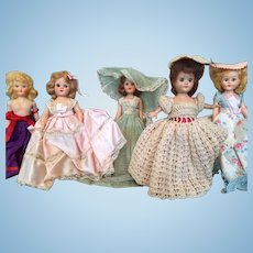 5 Storybook Dolls 40' and 50's