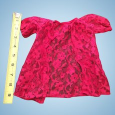 Beautiful Lace Peingoir Red Robe