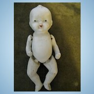 """5 1/2"""" Jointed Bisque Baby Boy Doll"""