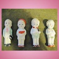 "4 Vintage FROZEN CHARLOTTE Bisque Dolls Made In Japan 3 1/4"""