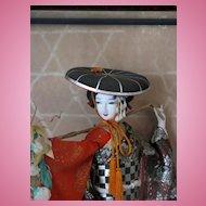 Vintage Silk Nishi Japanese Kabuki Fujimusume Doll