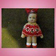 Vintage East German Miniature Rubber Doll (ARI)