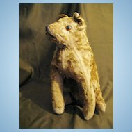Early 20c Vintage Mohair Dog 11.5""