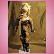 Very Rare French Polish Cloth Doll by Madame Paderewski