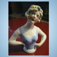 German Art Deco Flapper Half Doll