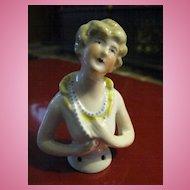 German Art Deco Flapper Half Doll