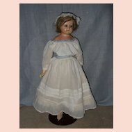 Antique Large Wax Over Composition Doll