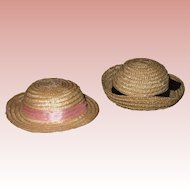 2 Vintage Wicker Hats