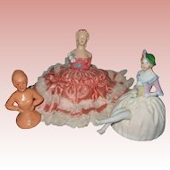 Three Vintage Half Dolls