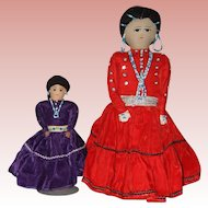 Two Clothe Dolls made by the Navajo Indians