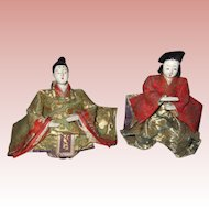 Pair of Small Antique Oriental Dolls