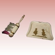 German Vintage Doll Miniatures Dust Pan and Brush