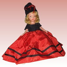 Painted Bisque Nancy Ann Storybook Doll Miss January #187