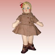 Georgene Novelties Brownie Doll with Mask Face