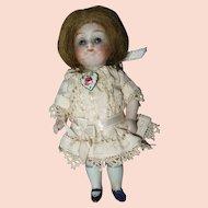 Antique German Miniature Dollhouse All Bisque Doll