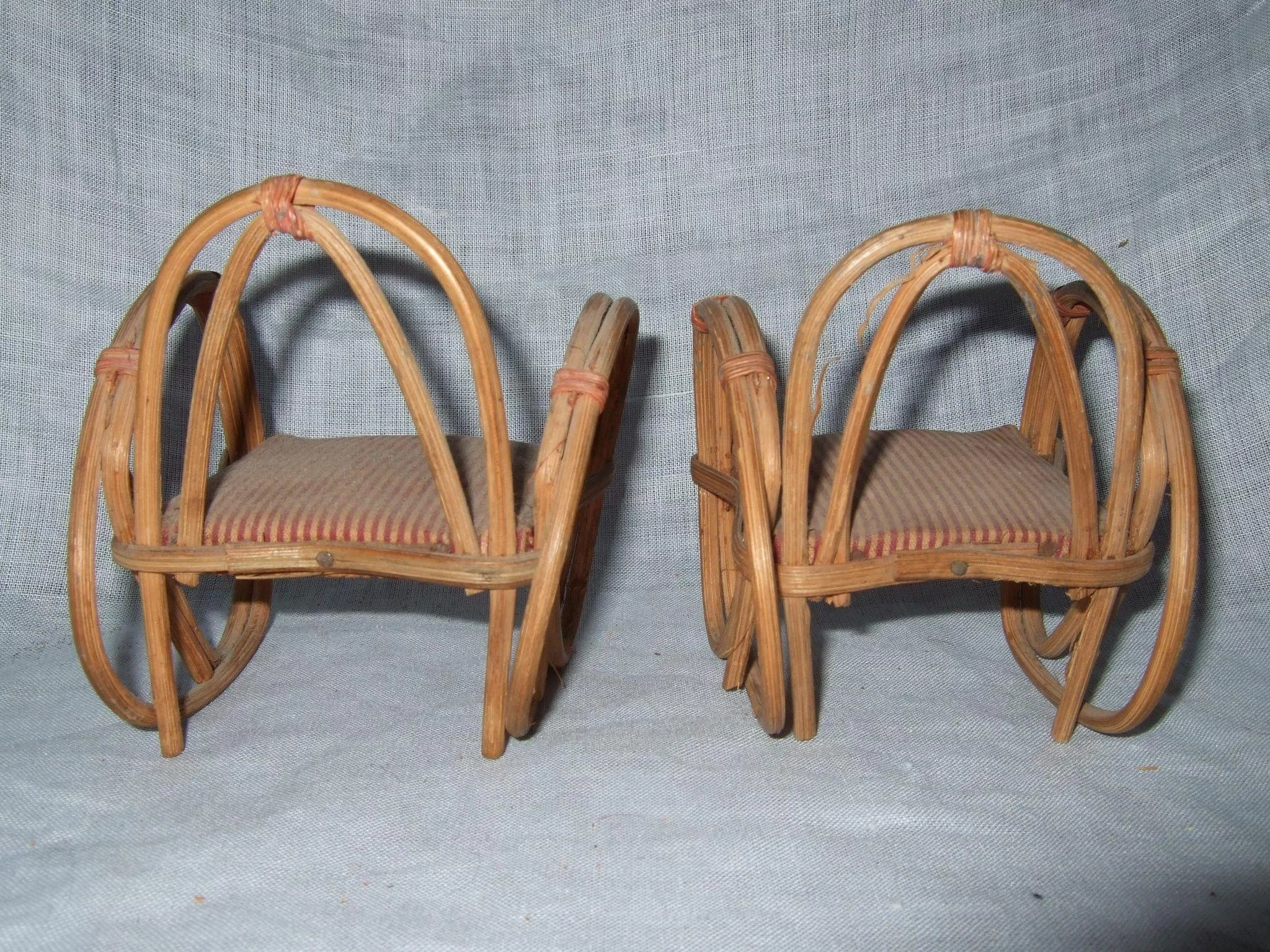 Pair Of Vintage Bent Bamboo Chair. Click To Expand