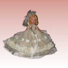 Painted Bisque Nancy Ann Storybook #188 A February Fairy Girl for Ice and Snow