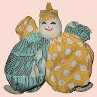 Vintage Hand Made Cloth Toy Clown