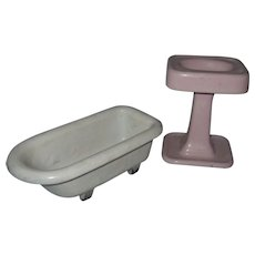 Vintage Columbia Cast Iron Sink and Tub Samples