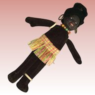 Black Velvet Souvenir Cloth Doll
