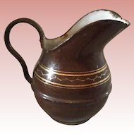 Antique, Enameled Water Pitcher