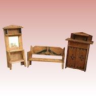 German, Wood Dollhouse Furniture
