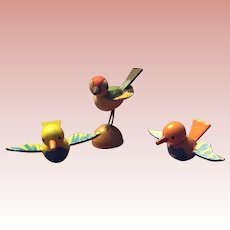 German, Miniature, wood, Putz Birds