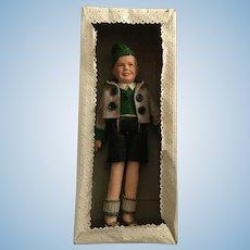 German, Composition & Cloth Bavarian Boy