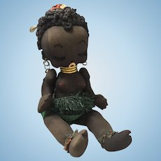 Artist Cloth African Character Doll