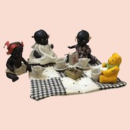 Japanese Black Dolls and Bear