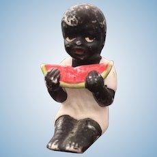 German, Miniature, Black Boy Figurine