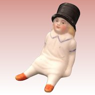 Miniature, All Bisque Baby in Top Hat