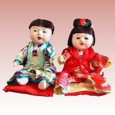 Pair of Japanese Dolls