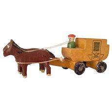 Putz, German, Miniature Horse Drawn Wagon